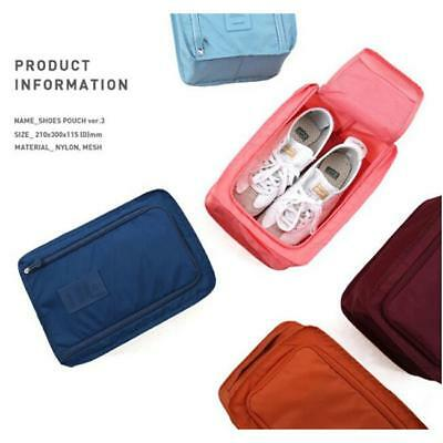 Portable Travel Shoes Storage Outdoor Tote Pouch Zip Waterproof Bag Organizer JD