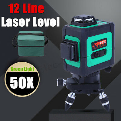 3D 360° 12 lines Laser Level Auto Self Leveling Vertical Measure Cross Green
