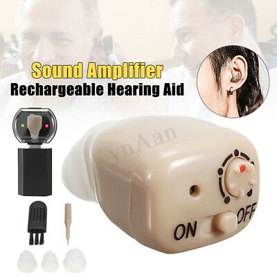 In Ear Mini Rechargeable Personal Tone Digital Hearing Aids Sound Amplifier new