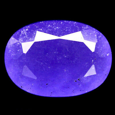 7.53 CT NATURAL LAVENDER BLUE MADAGASCAR CHALCEDONY OVAL 10 X 14 mm.
