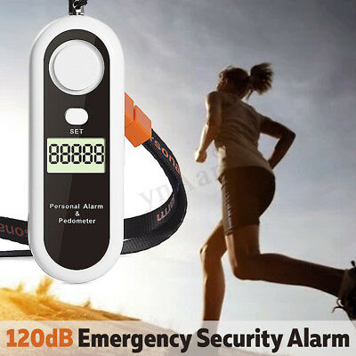 Personal Alarm Emergency Safety Defense Anti-Attack Pedometer w/ Light