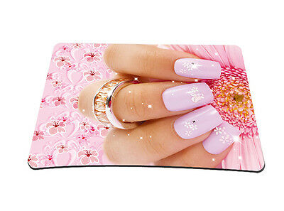 Nail Art Anti-Slip Mouse Pad Mice Pad Mat Game Mousepad For Optical Laser Mouse