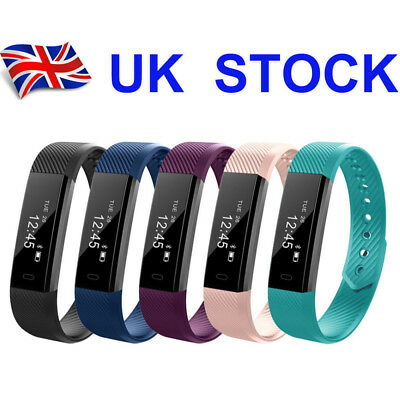 Smart Bluetooth Step Counter Activity Tracker Fitness Pedometer Fit-Bit Bands UK