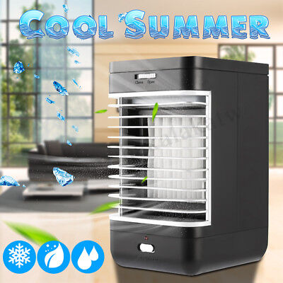 Mini LED Air Conditioner Portable Cooler Fan Humidifier Cooling Desk Home Office