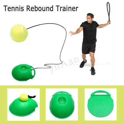 Tennis Training Tool Rebound Trainer Self-study Exercise Ball Baseboard