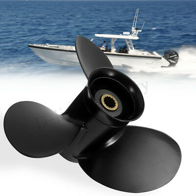 9 1/4 x 9 Aluminum Propeller For Tohatsu Mercury Outboard 9.9-18HP 3BAB645180