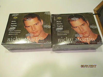 Lot of Two 1999 Upper Deck Ricky Martin Trading Card Boxes Factory sealed