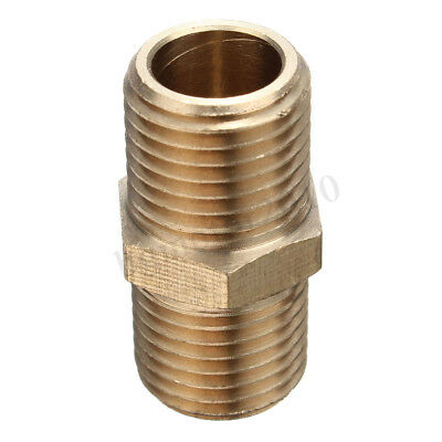 2x Brass 1/4 BSP Tapper Thread Male Air Line Hose Connector Airline Fitting