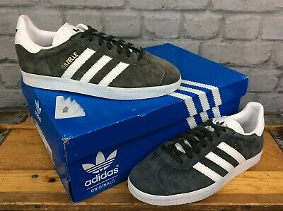 Adidas Mens Solid Grey/White Gazelle Og Originals Trainers Re Dye Various Sizes
