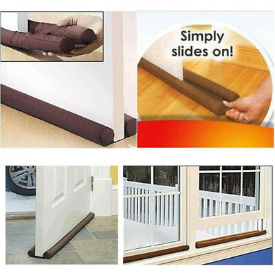 2 x Dual Double Draft Air Stopper Guard Door Window Draught Excluder Insulator