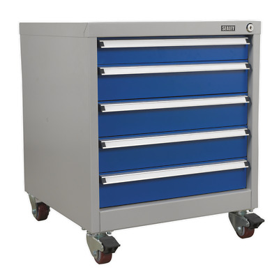 API5657A Sealey Mobile Industrial Cabinet 5 Drawer [Industrial Workstations]