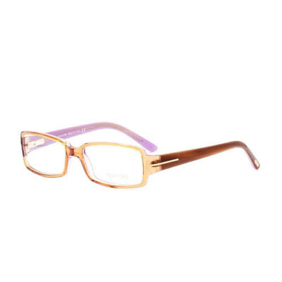 6d4c613e6d8 Tom Ford Womens Eyeglasses FT5185-050 Brown Rectangle Full Rim Frames