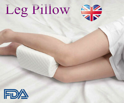 Memory Foam Leg Pillow Cushion Hips Knee Support Pain Relief w/ Washable Cover Z