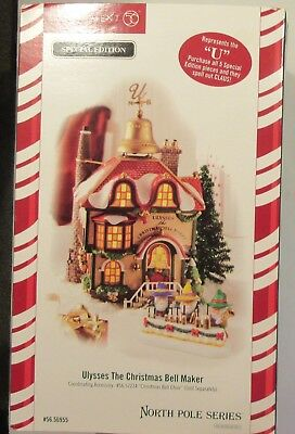 Dept 56- North Pole-Ulysses The Christmas Bell Maker-#56955- Special Edit.-NIB