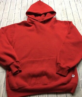 90s VTG RUSSELL ATHLETIC Made In USA Blank Gym RED Hoodie Sweatshirt M 50 50 d21d8046f09a3