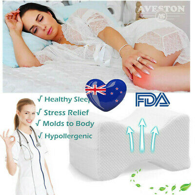 Memory Foam Orthopaedic Leg Pillow Cushion Hips Knee Support Pain Relief AU