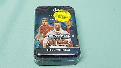 Topps Match Attax Champions League 2018/2019 Tin Box mit 15 Title Winners Cards