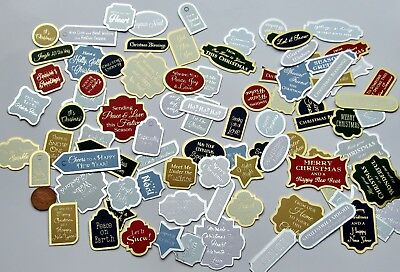 HUNKYDORY.. 50 Foiled Christmas Sentiments Card Toppers