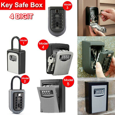 Combination Lock Key Safe Storage Box Padlock Security Home Outdoor