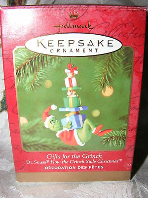 """Hallmark Dr Seuss How the Grinch Stole Xmas Ornament """"Gifts For The Grinch"""""""