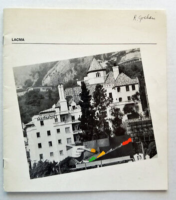 RARE LACMA 1976 MUSEUM Catalog Signed & Owned BY ROBERT GRAHAM Artist Sculptor