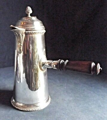 "SUPERB 10"" ~ SILVER Plated ~ GEORGIAN Style ~ Coffee JUG ~ c1900"