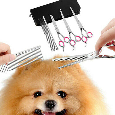 Pet Dog Cat Professional Curved Thinning Shear Hair Cutting Or Grooming Scissors