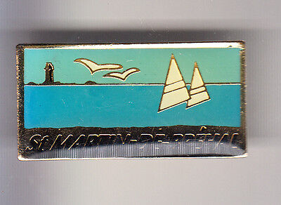 Rare Pins Pin's .. Bateau Boat Voilier Voile Sail Ship Phare St Martin Breal ~B5