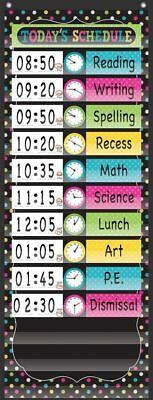 TCR 20752 Chalkboard Brights Scheduling Pocket Chart Classroom Organization