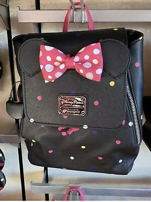 Disney Parks Loungefly Purse Backpack 2019 Minnie Mouse Rock The Dots New