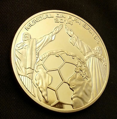 World Cup Gold Coin Brazil Stadium Goal Net Olympics 2016 Rio German Russia 2018