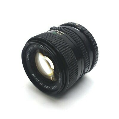 Canon Machine Vision Camera Lens, 50mm, Aperture F/1.4, FD/C Mount