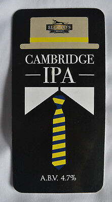 Cambridge IPA Elgoods Brewery Real Ale Pub bar hand pull beer clip front badge