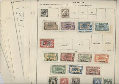 CAMEROONS, Excellent OLD Stamps mostly hinged on remainder Scott pages