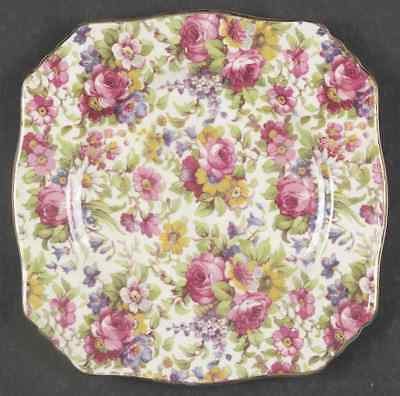 Royal Winton SUMMERTIME (GOLD TRIM) Ascot Square Bread & Butter Plate 642051