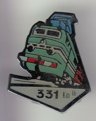 Rare Pins Pin's ..  Train Railways Sncf Cc 7107 Record Du Monde Motrice 1955 ~Do