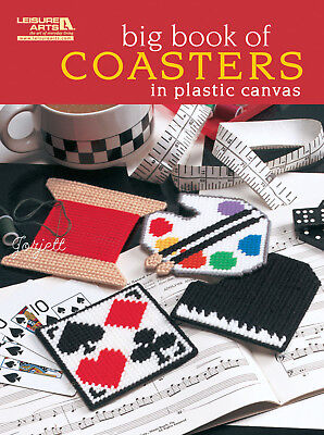 Big Book of Coasters ~ 40 Coaster Designs plastic canvas patterns NEW