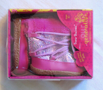 """Our Generation PINK SPARKLE Snow Business Boots American 18"""" Girl Doll NEW"""