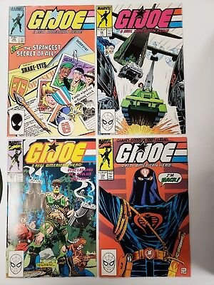 G.I. Joe a real american hero #100, 97, 68, and 26 all are VF, VF+ copies