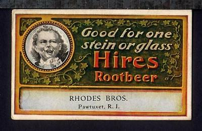 1904 HIRES ROOT BEER COUPON Soda Fountain ST. LOUIS WORLD'S FAIR Rhodes Pawtuxet