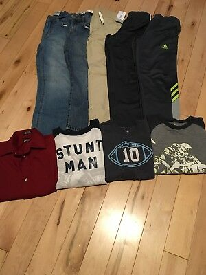 Boy's Size 7 Fall/Winter Clothing Lot Includes 9 Items