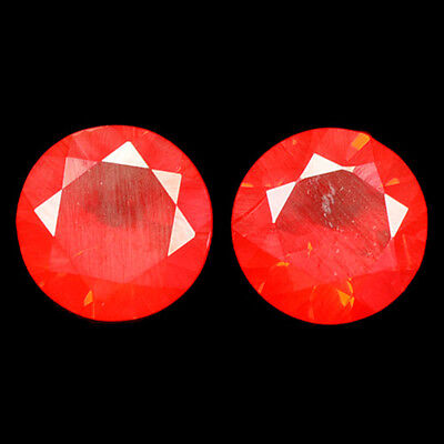 0.46Ct Grand look Round cut 5 x 5 mm 100% Natural Red Fire Opal