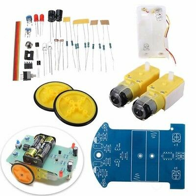 Intelligent Smart Tracking Robot Car DIY Kits +Reduction Motor Robotics Electric