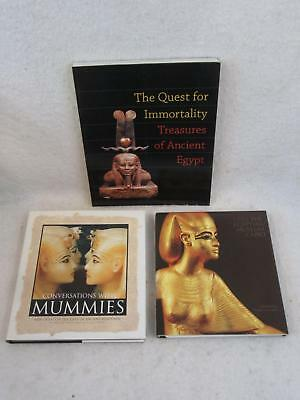 Lot of 3 ANCIENT EGYPTIAN MUSEUM CAIRO TREASURES OF CONVERSATION WITH MUMMIES