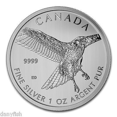 CANADA 5 Dollars Argent 1 Once Faucon a Queue Rouge 2015