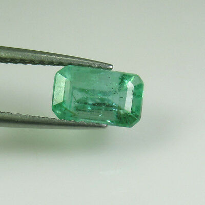 1.48 Ct - Natural Emerald - Luster Nice Green - Octagon Cut - Zambia - Untreated