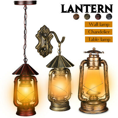 E27 Retro Antique Vintage Ceiling Pendant Lantern Lights Wall Sconce Lamps Cafe