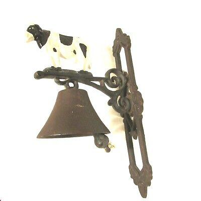 ANTIQUE CAST Steel Farm Dinner Bell (Cow Bell) Hanging Bell Lunch