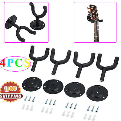 4X Guitar Hanger Wall Mount Stand Holder Hook For Display Acoustic Electric bass