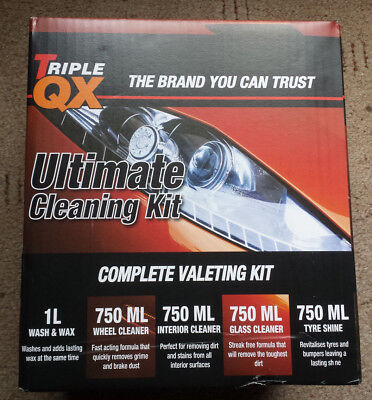 Triple QX ultimate car cleaning kit Wash & Wax Tyre Shine